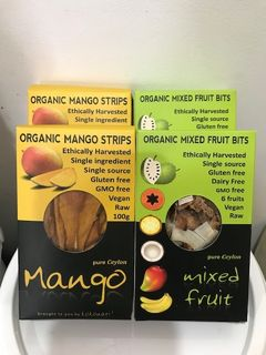 ORGANIC MIXED FRUIT BITS & ORGANIC MANGO STRIPS