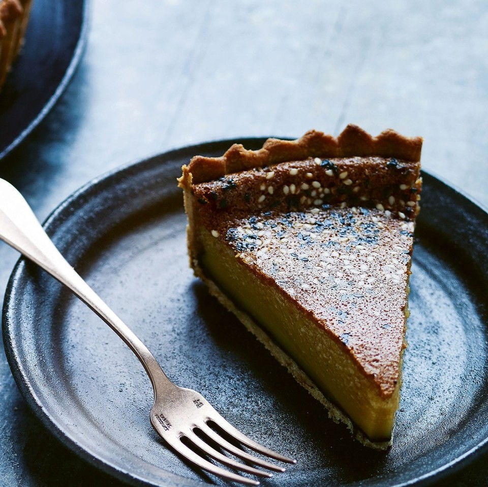 BLACK TAHINI & HONEY PIE !